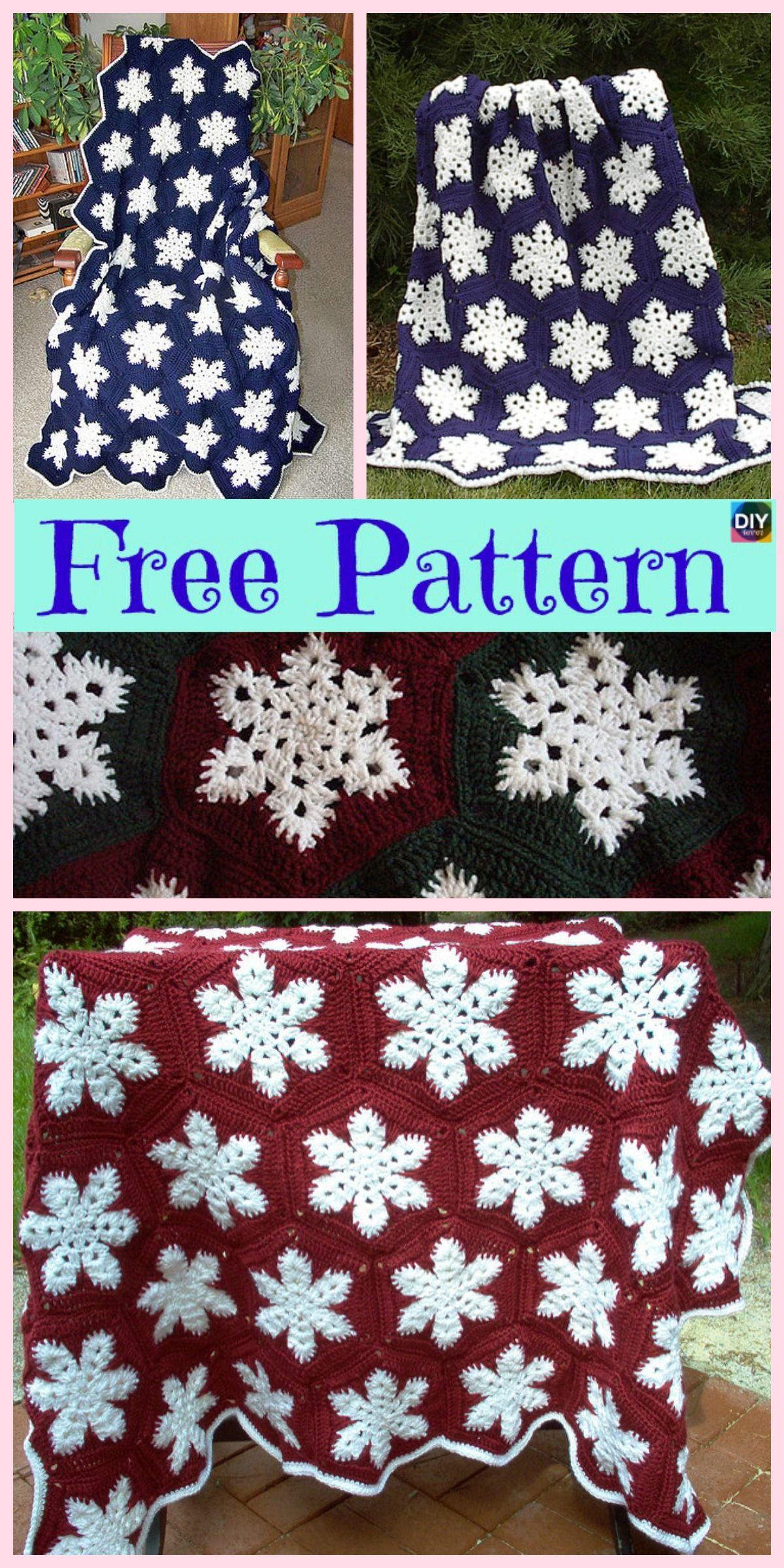 Beautiful Crochet Snowflake Afghan Free Pattern Hklet Tppe