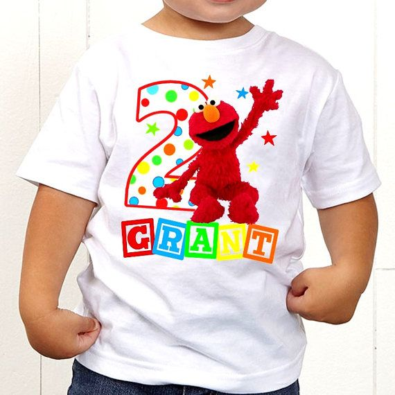 Elmo Sesame Street T Shirt Birthday By TheMemoryMakers 2nd Party Themes