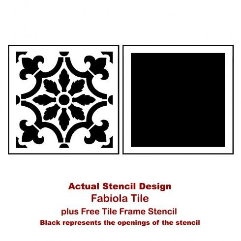 Stenciledbacksplashtilestencilskitchendiypaintedbacksplash Delectable Kitchen Stencil Designs Design Ideas