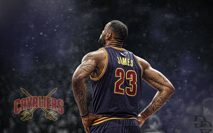 Download wallpapers LeBron James, 4k, fan art, NBA