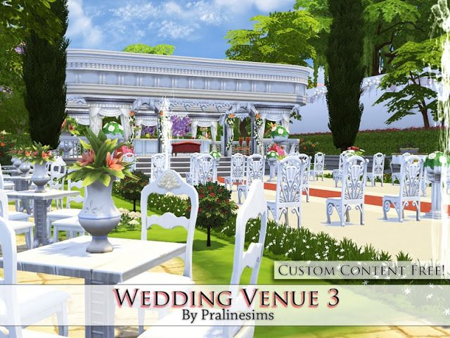 The Best: Wedding Venue 3 By Pralinesims