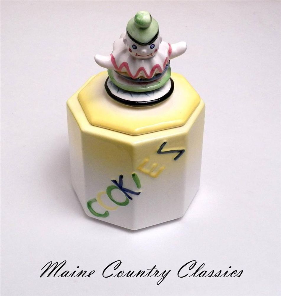 Cookie Jar Maine Simple Vintage Jack In The Box Abc Cookie Jar Old 1950's Nc Japan  Vintage Design Ideas