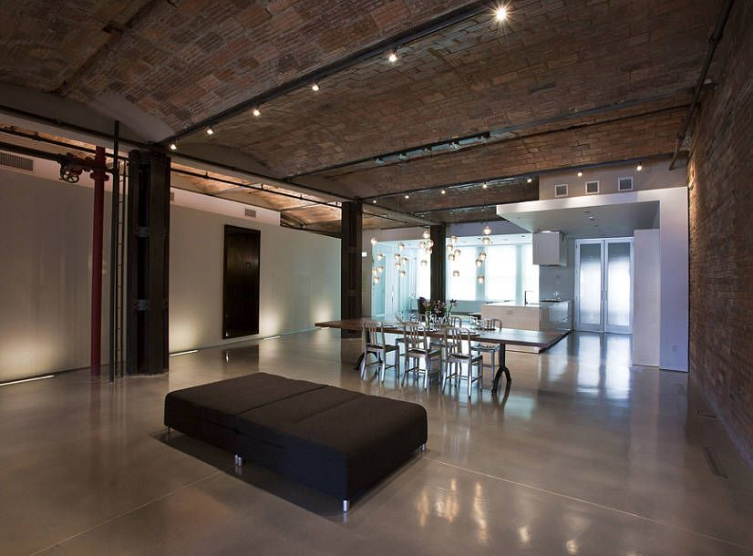 Amazing Loft With Exposed Structural Steel Columns Piping