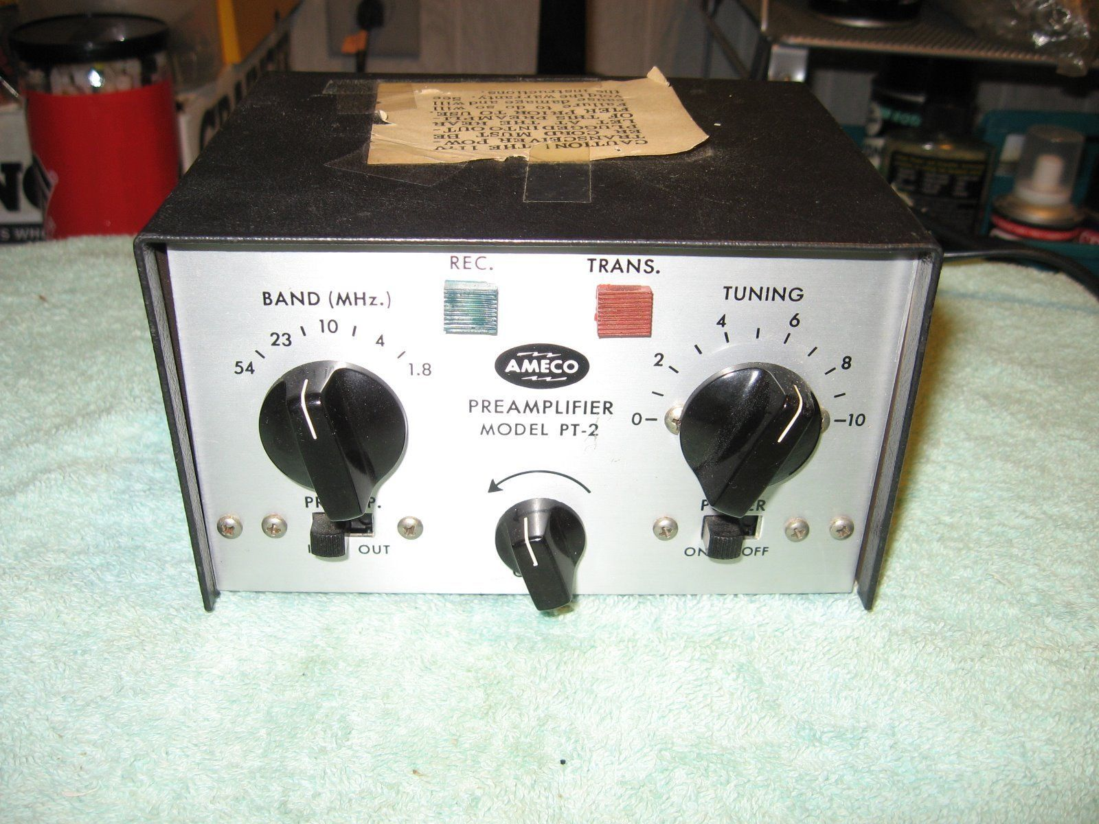 Ameco Pt 2 Preamplifier Hf With Tr Switching Radio Technology Band