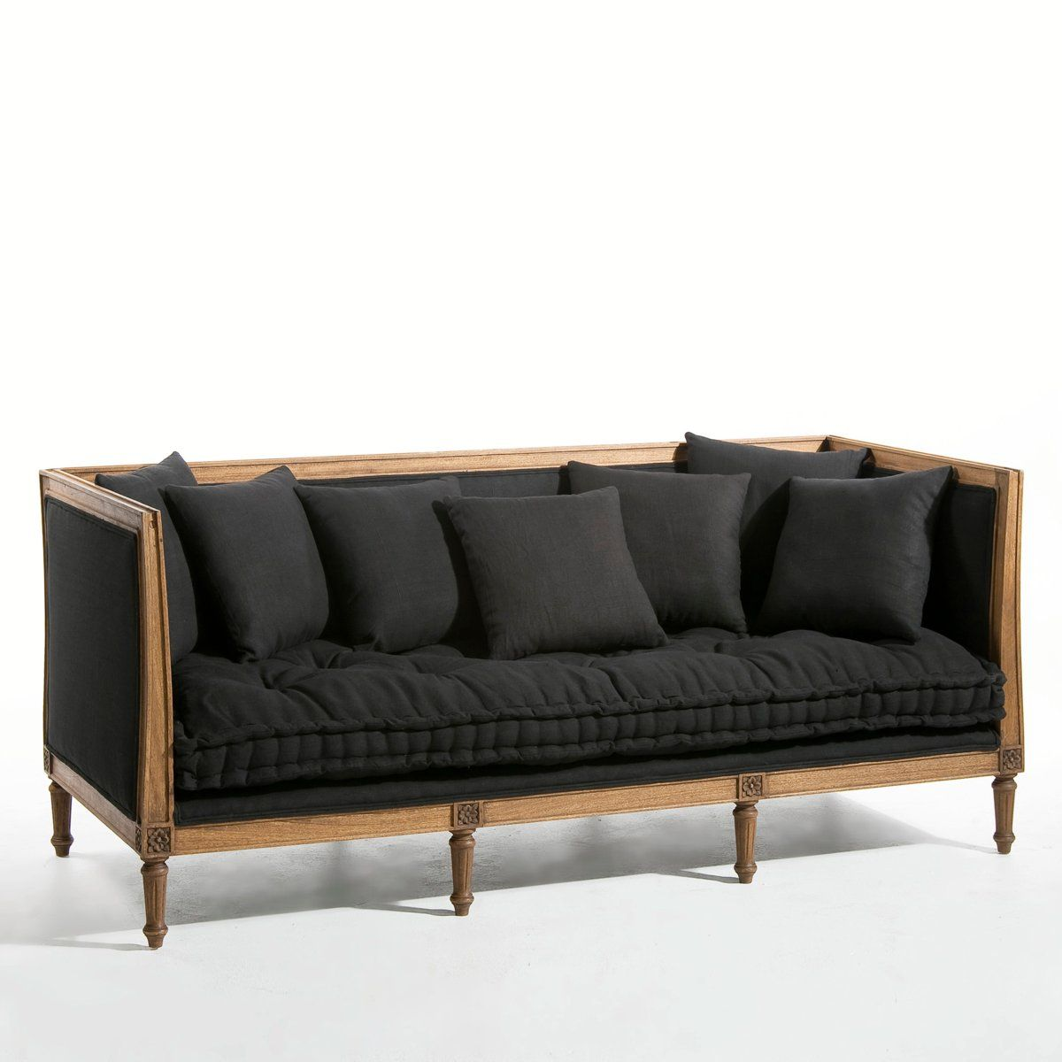 banquette charlotte rev tement lin am pm la redoute. Black Bedroom Furniture Sets. Home Design Ideas