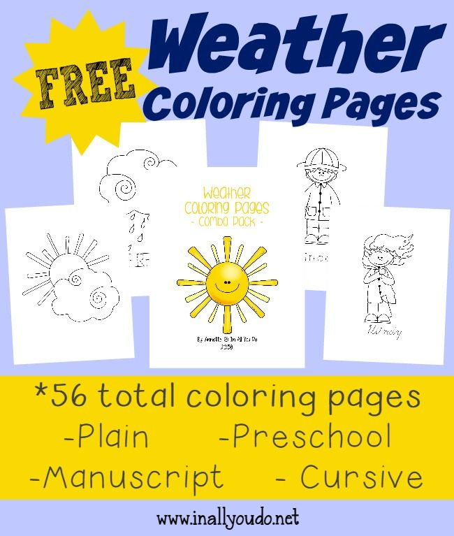 free weather coloring pages - photo#34