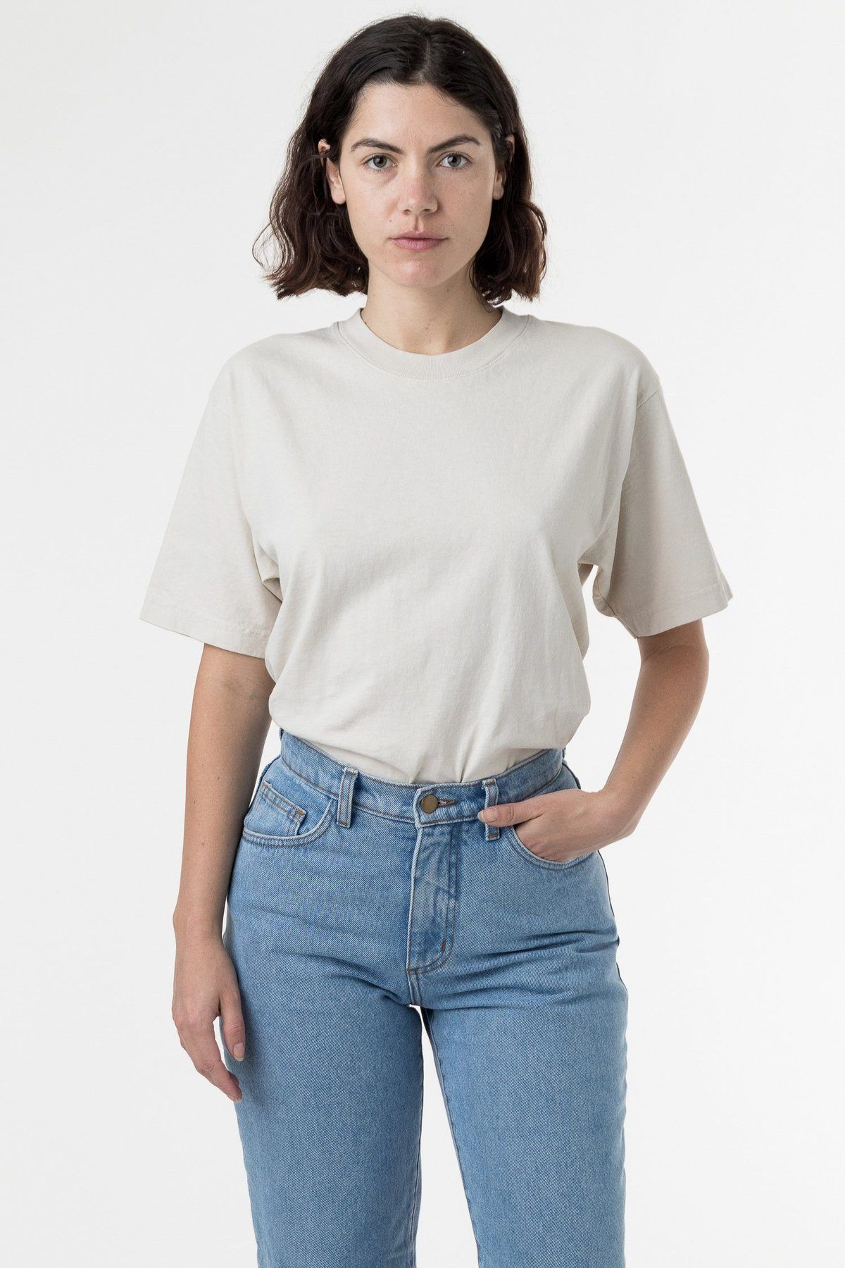 1801gd Unisex 6 5oz Garment Dye Crew Neck T Shirt Garment Dye Garment Vintage Shirts