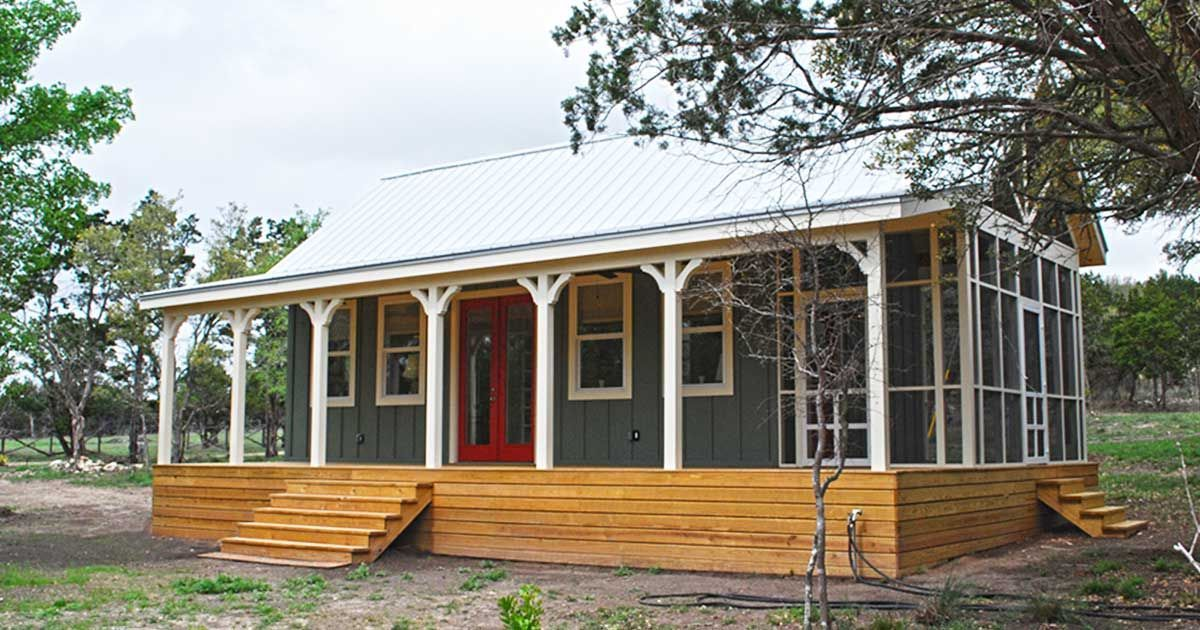 Beautiful 480 Square Foot Country Cottage Designed By