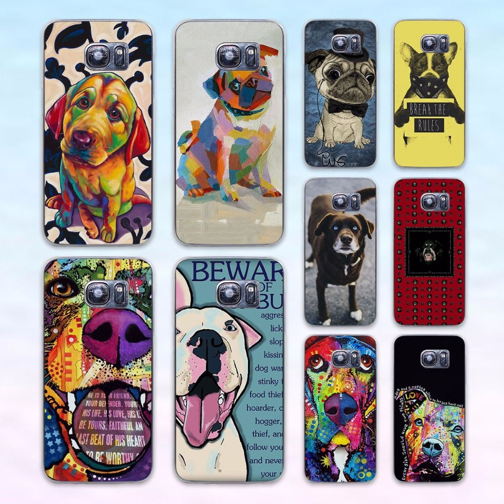 Pitbull Basset Hound Pug Print Protective Phone Case For Samsung