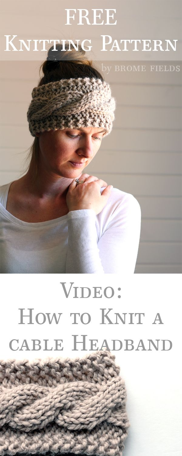 FRIENDSHIP : FREE Headband Knitting Pattern by Brome Fields | Tejido ...