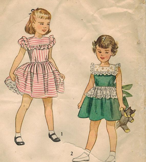 1940s Simplicity 2856 UNCUT Vintage Sewing by midvalecottage, $12.00