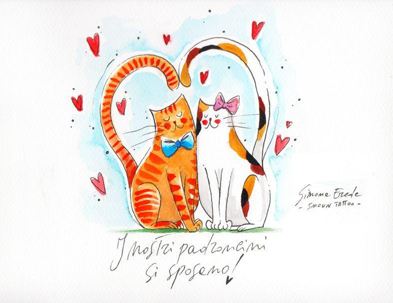 Partecipazioni Matrimonio Gatti.Le Partecipazioni Di Matrimonio A Tema Cani O Gatti Di Coi Fiocchi