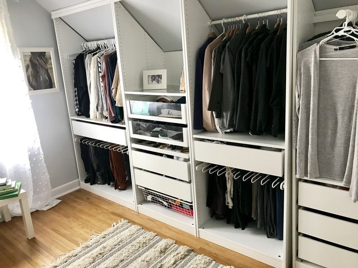 Custom Ikea Closet for Sloped Room