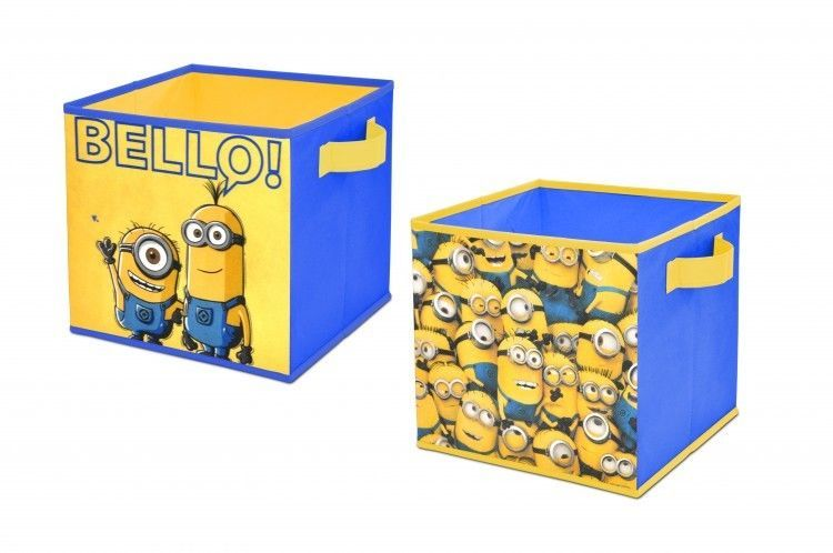 Despicable Me Storage Cube Set Of Two 10 X 10 Collapsible Cubes Playroom Toybox Despicableme3 Cube Storage Collapsible Storage Cubes Storage