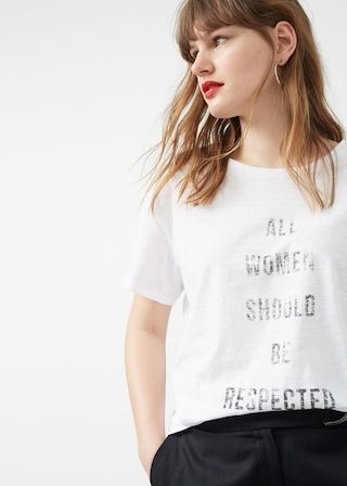 Camiseta mensaje estampado | VIOLETA BY MANGO