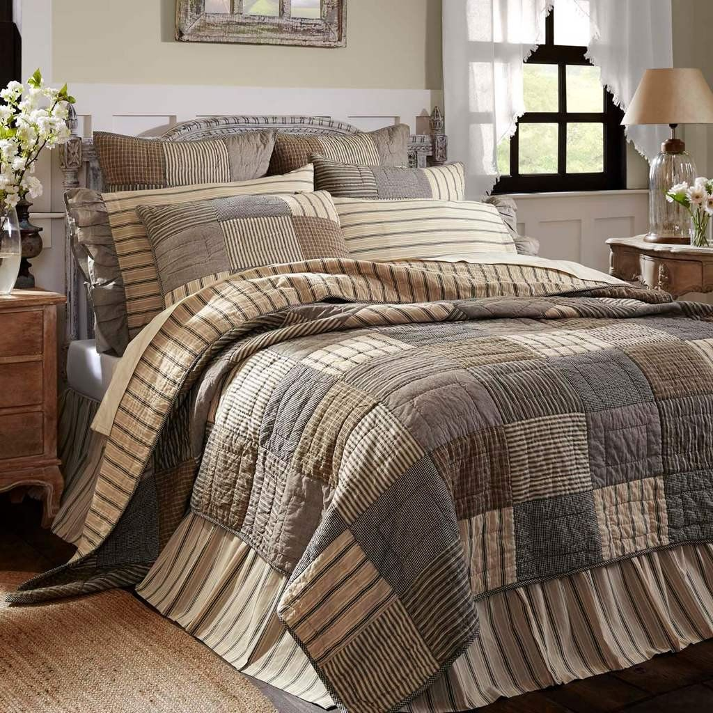 Sawyer Mill Charcoal Quilt Farmhouse quilts, Quilt