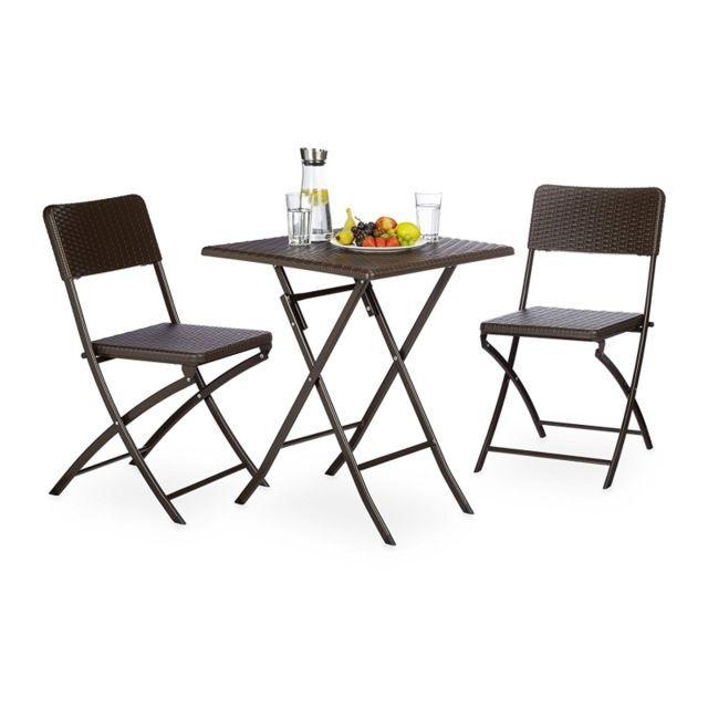 Autre Ensemble table et chaises de jardin en métal terrasse ...