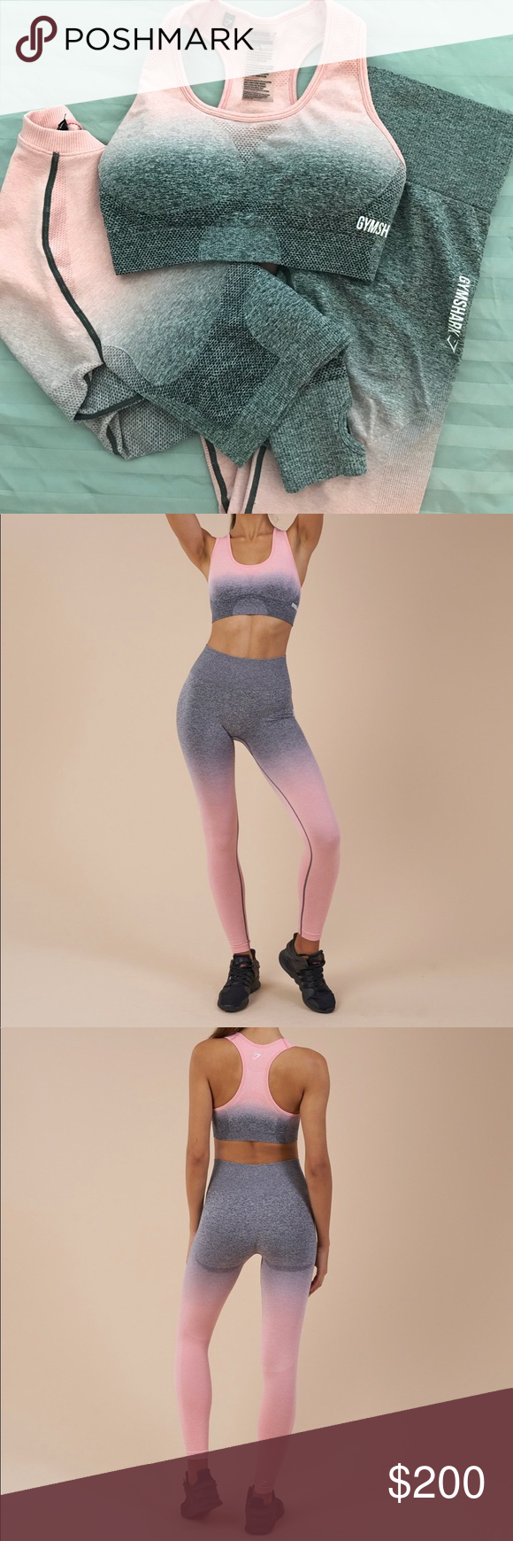 782a35ea47ea4f Gymshark Ombré Seamless Set. Selling as is. Please read the description  carefully. Selling