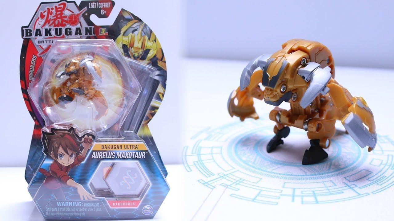 Bakugan Battle Planet Aurelus Maxotaur Ultra Unboxing Bakugan Battle Brawlers Toys Bakugan Battle Brawlers Family Friendly Games