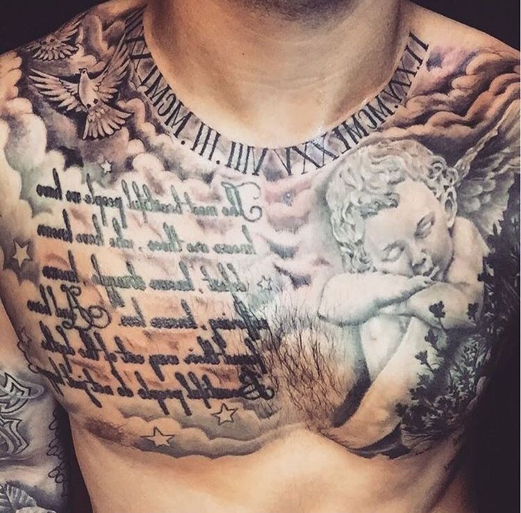 Pin By Chris Stanfield On Tattoo Ideas Chest Tattoo Men Tattoos