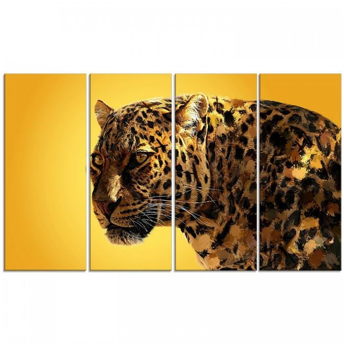 Gold Eyes On You Animal Canvas Wall Art Print | Gold eyes, Canvases ...