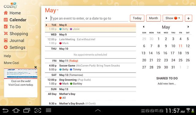5 Android Apps For Busy Moms Android Apps Best Calendar App