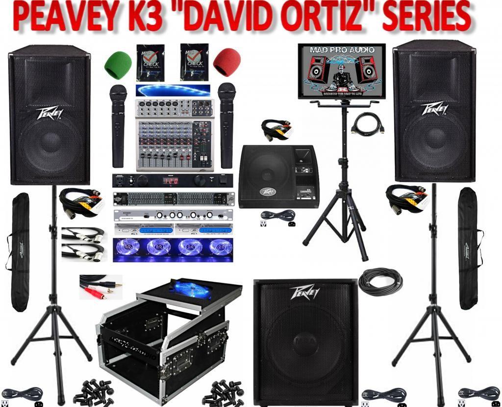 all new peavey k3 david ortiz series dj karaoke system peavey pv115d powered loudspeakers. Black Bedroom Furniture Sets. Home Design Ideas