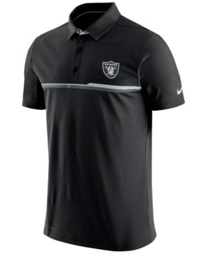 8954b966 Nike Men's Oakland Raiders Elite Polo Shirt - Black/Silver S ...