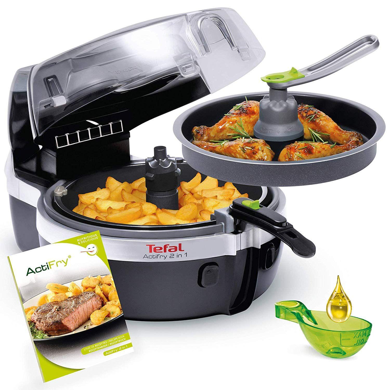 Patentierte 2in1 Technologie Ermoglicht Gleichzeitiges Braten Kochen Frittieren Von Fleisch Fisch Gemuse Reis Kartoffeln Sussspeise Tefal Actifry Actifry 2 In 1 Und Heissluftfritteuse