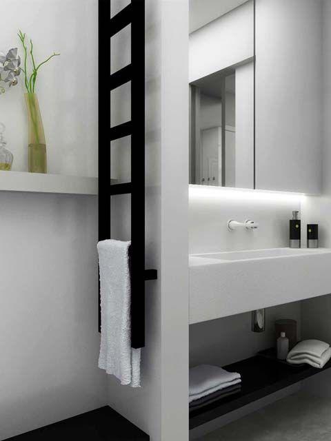 Sèche-serviettes électrique   à eau chaude   vertical   en acier - puissance seche serviette salle de bain
