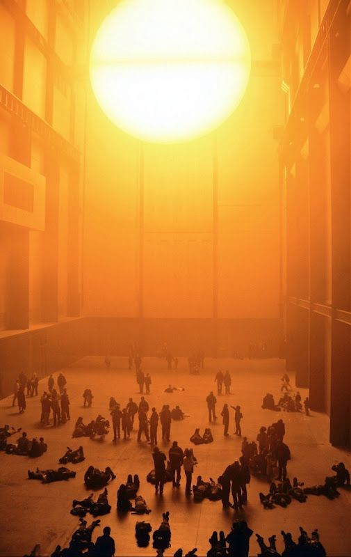 olafur eliasson the weather project was installed at the s tate modern in 2003 as part