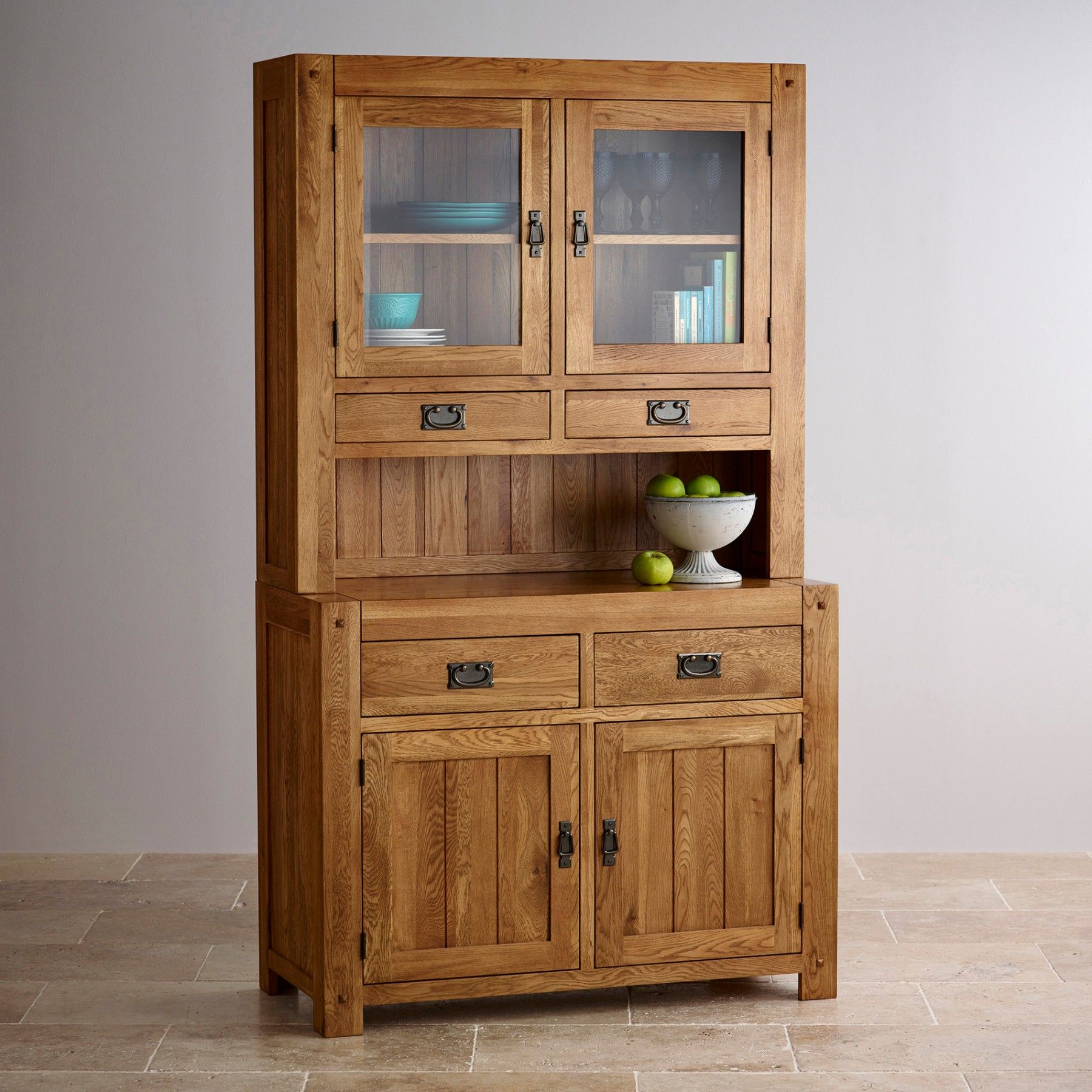 The Quercus Rustic Solid Oak Small Hutch Is Designed To Offer Interesting Small Hutches Dining Room Inspiration