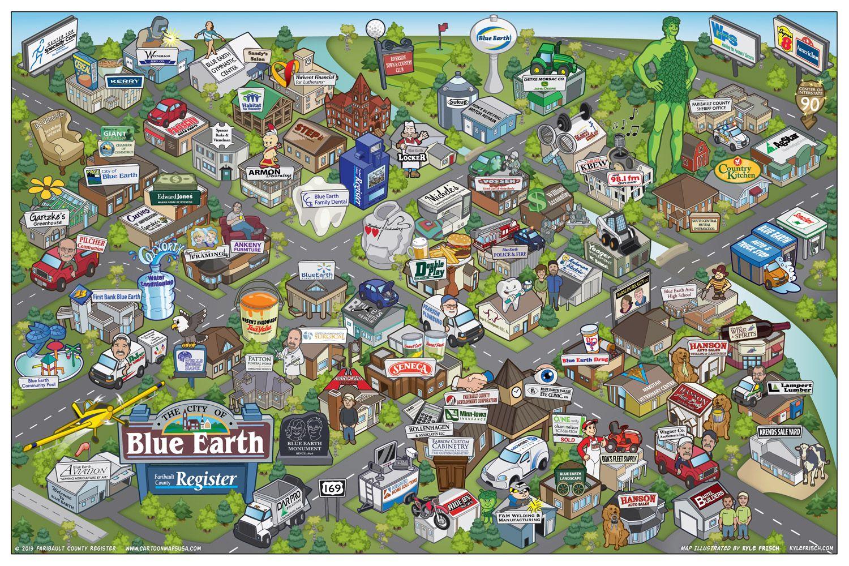 Cartoon Maps USA By Kyle Frisch  X  Kylefrischcom More - Map of usa for sale