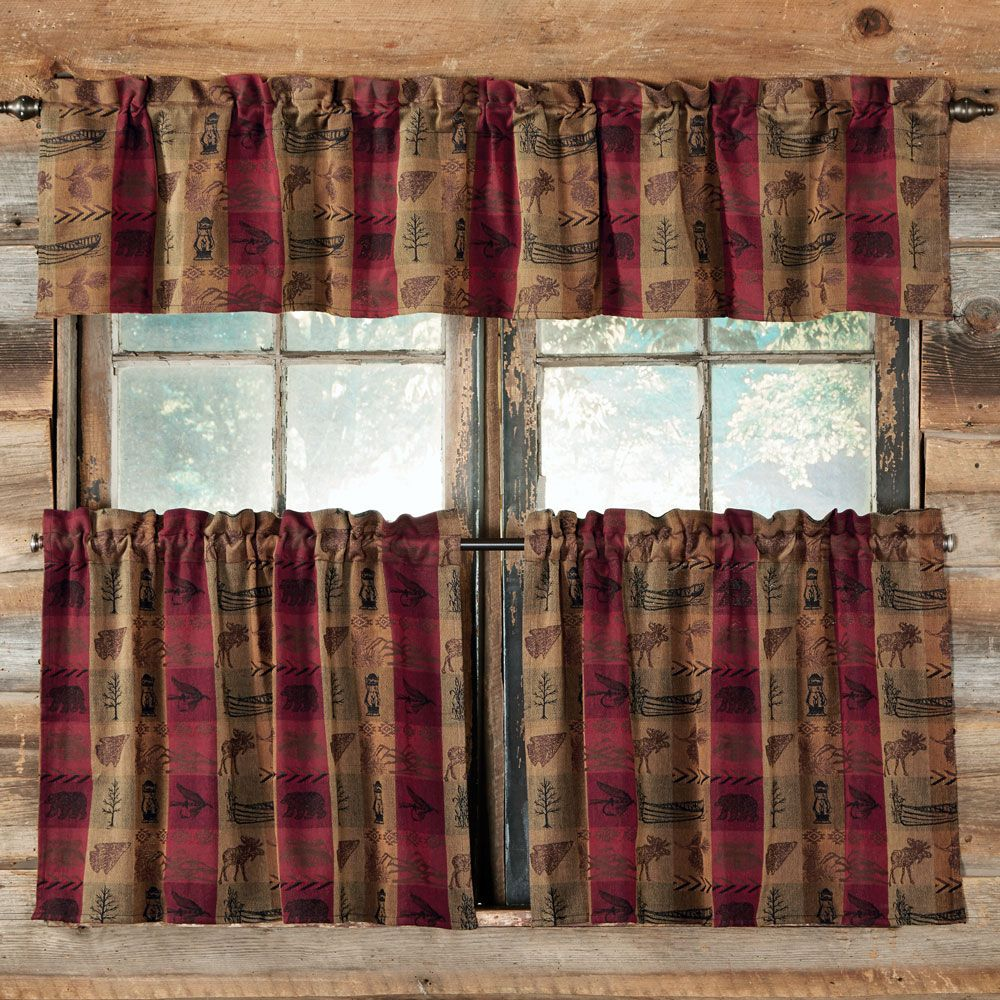 Image result for plaid curtains with star trim