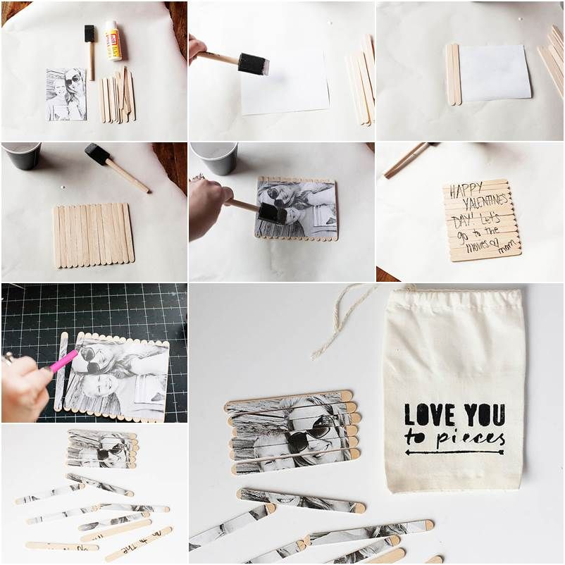 Creative Ideas – DIY Valentine Photo Puzzle