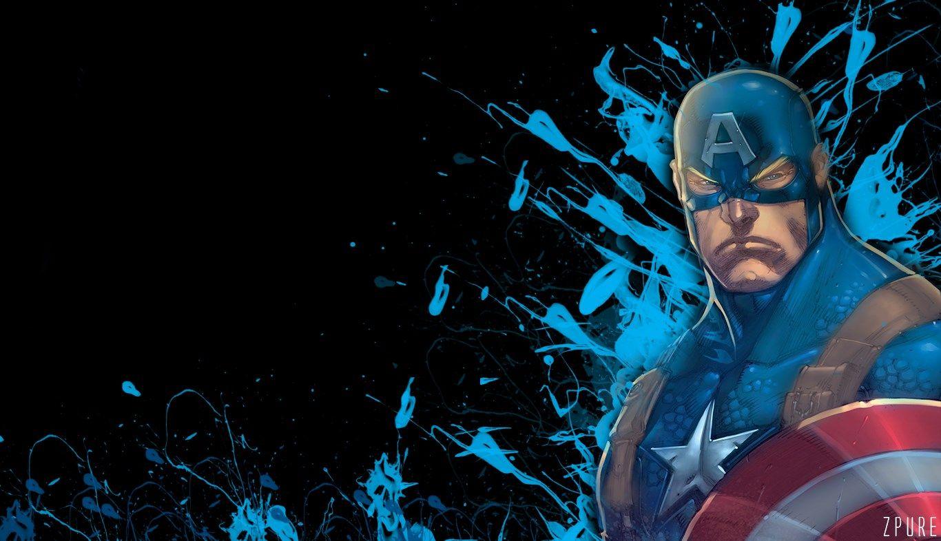 1366x786 Desktop Wallpaper For Captain America Captain America Comic Captain America Captain America Comic Books