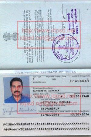 Template India Passport PSD - wwwidpsdnet Passport PSD - passport template