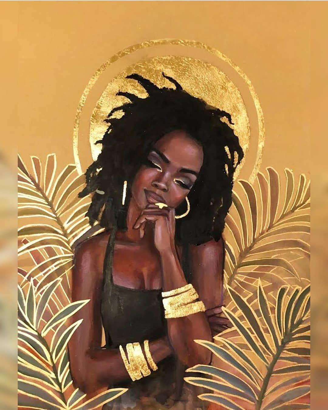 Black Artist Space On Instagram By Tshikamba Repost Queen Lauryn Hill 18 I M Doing Black Art Painting Black Girl Art Black Artists