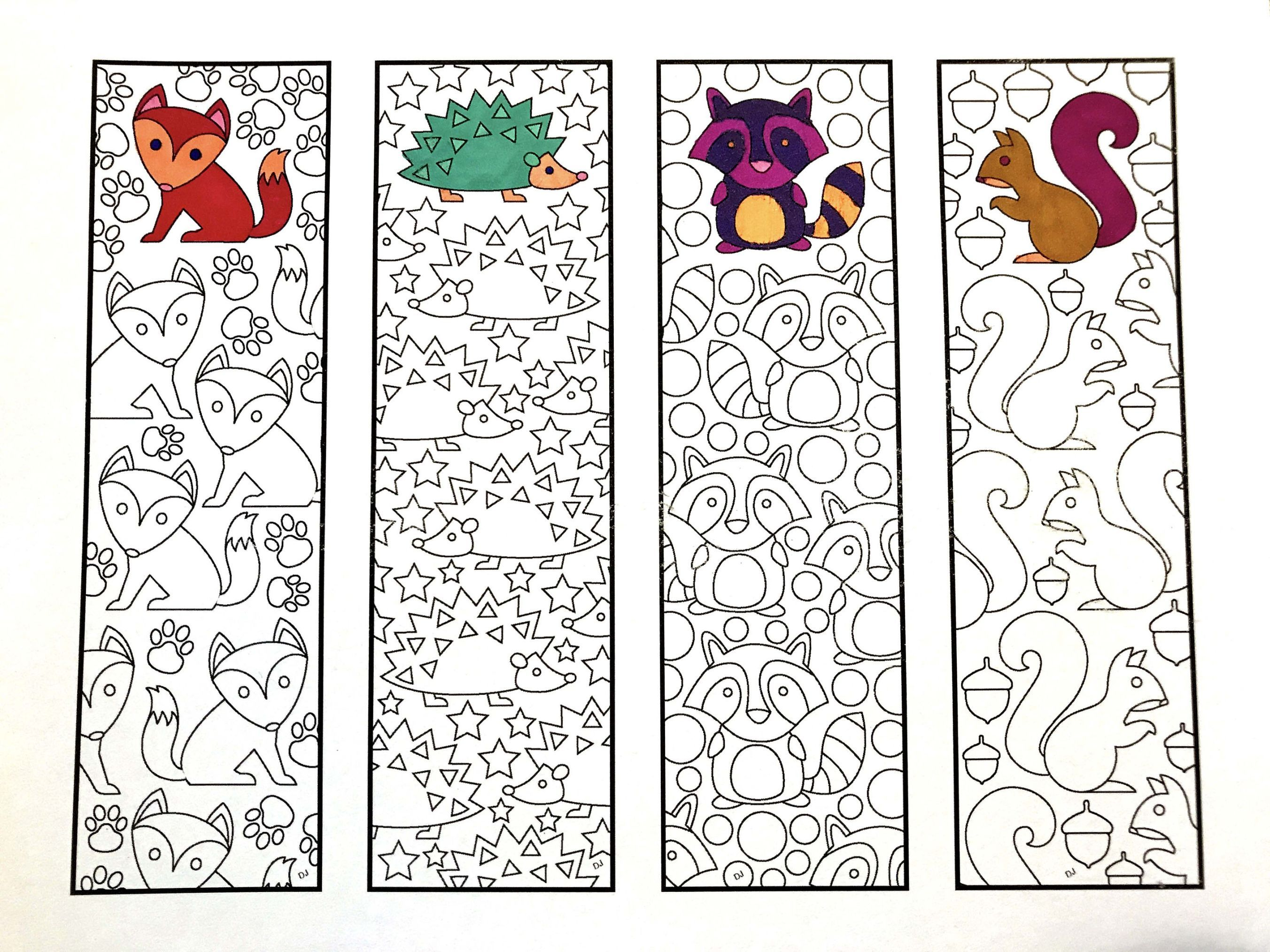 Cute Animal Bookmarks PDF Zentangle