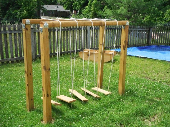 Build a playground swinging bridge
