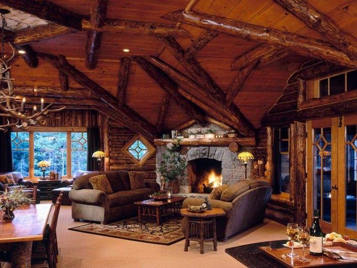 rustikale holzw nde zu hause 30 beispiele f r eyecatchende wandgestaltung wandgestaltung. Black Bedroom Furniture Sets. Home Design Ideas