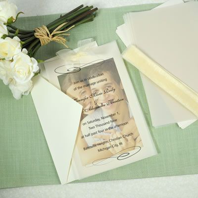 Love this DIY wedding invitation kit using an engagement photo!