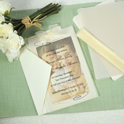 Love this DIY wedding invitation kit using an engagement photo!