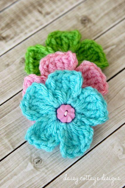 Free Crochet Patterns Simple Daisy Crochet Pattern Pinterest