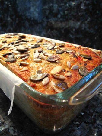 extraordinaire cake lentille corail – carotte – graines, une recette végétarienne à faire se convertir les non-végétariens!