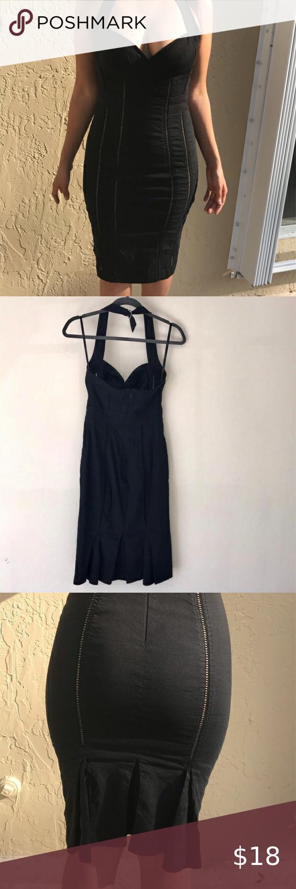 SOLD BEBE Black  dress
