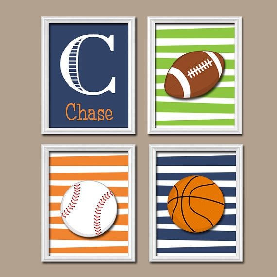 Sports Baby Boy Nursery Ideas: SPORTS Wall Art Canvas Or Print Sports Nursery Decor