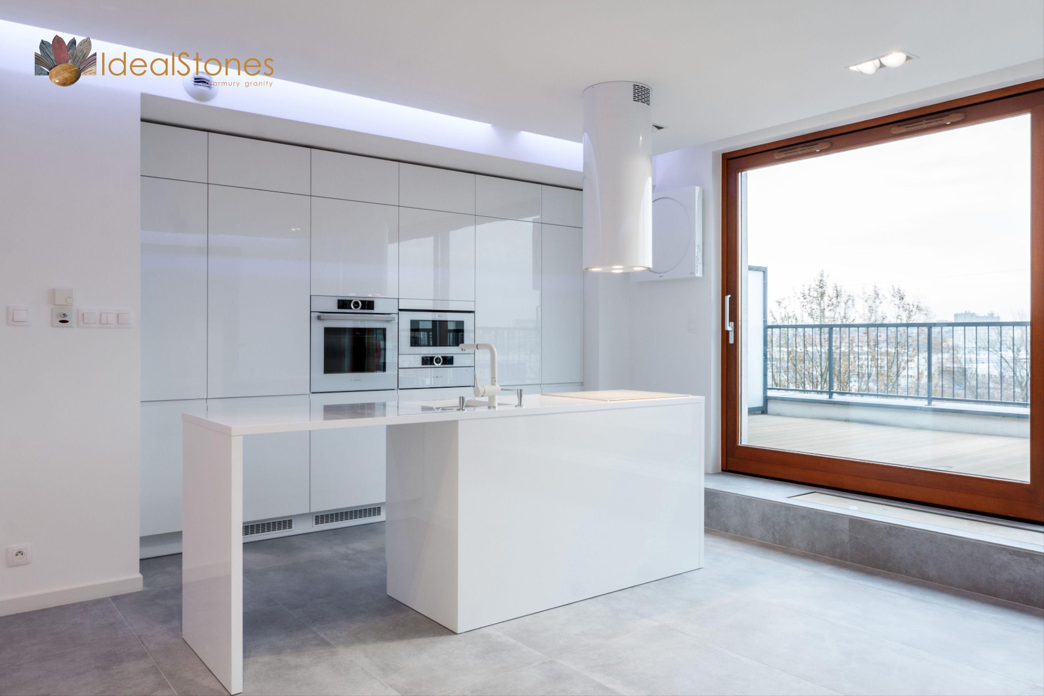 Blat Kamienny Na Wyspe Kuchenna Z Bialego Kwarcytu Ideal Bianco Home Decor Kitchen Decor