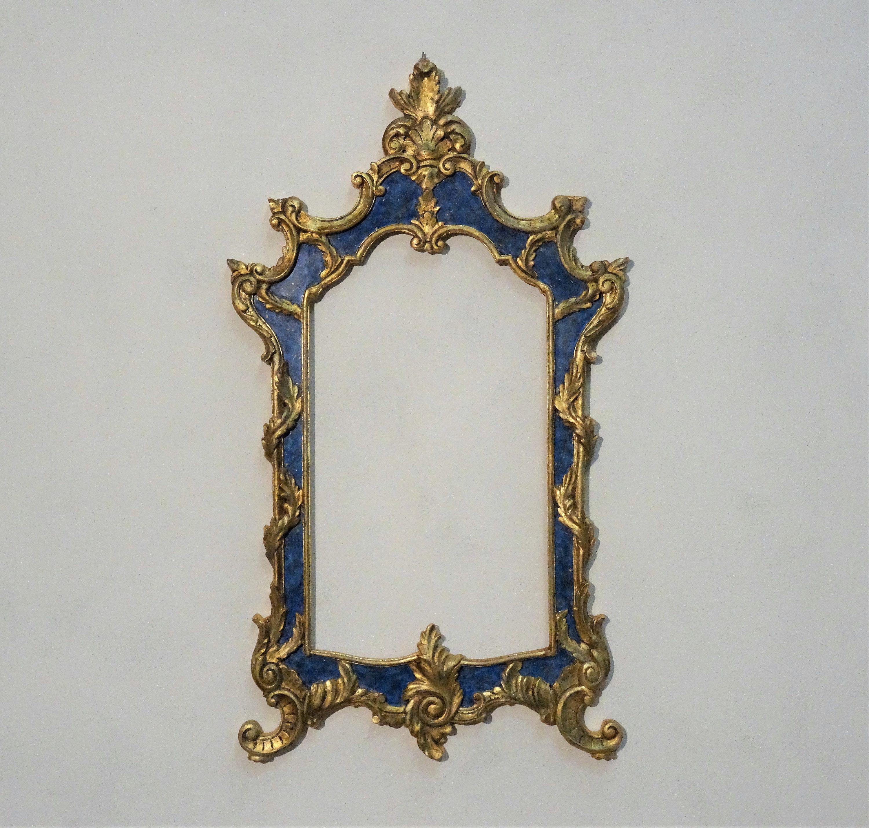 Cornice in legno intagliata stile barocco foglia oro