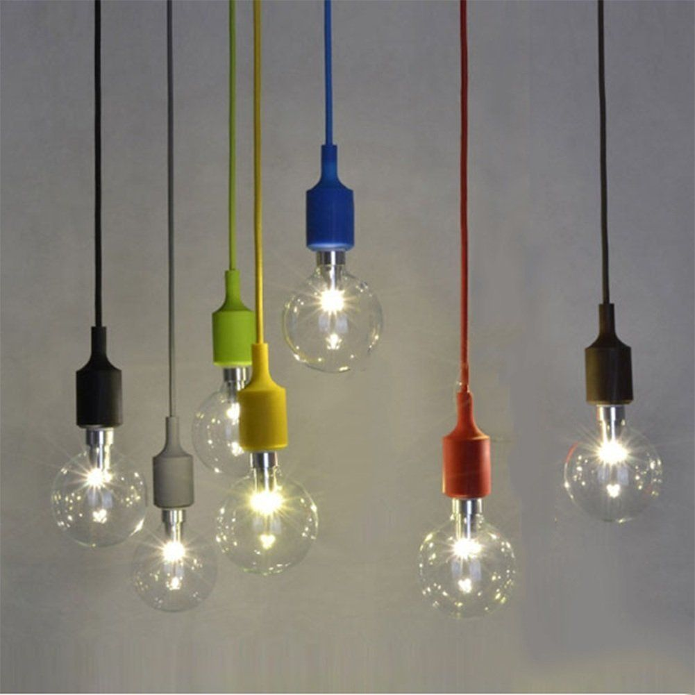 Couleur silicone luminaire suspension style europ en for Suspension luminaire 3 lampes